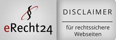 Disclaimer-Siegel eRecht24